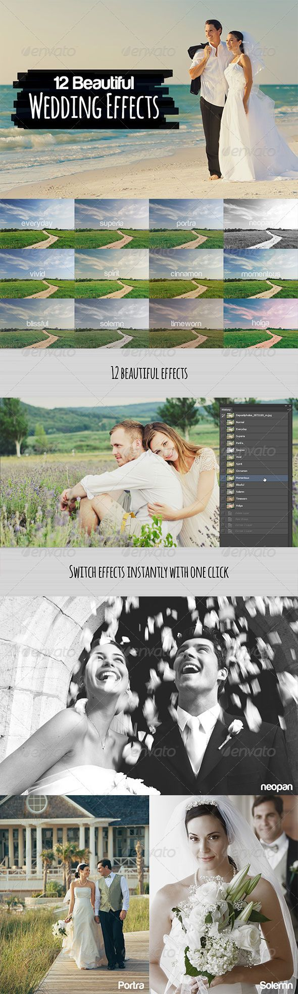 12 Beautiful Wedding Effects - Photo Effects Actions