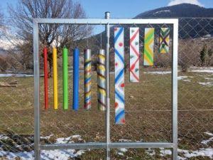 μουσικός τοιχος music wall , Εκπαιδευτικό Πάρκο