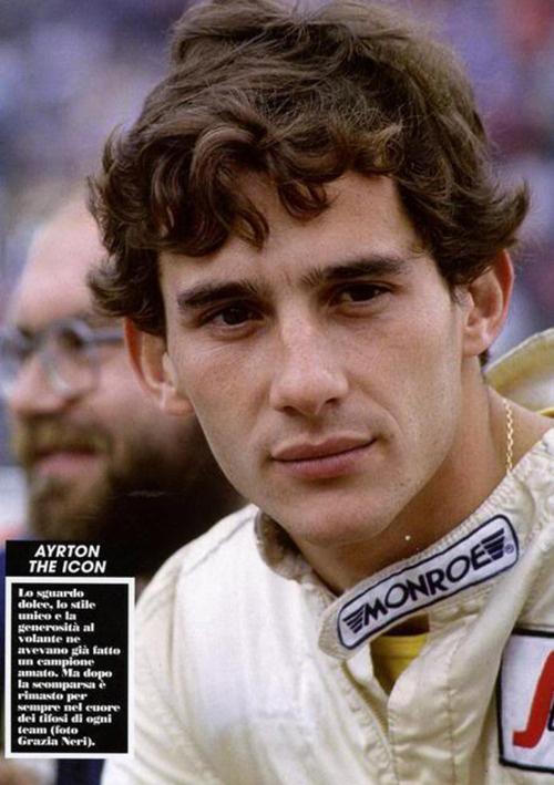 Ayrton Senna, i mentioned him in my senior GP speech!