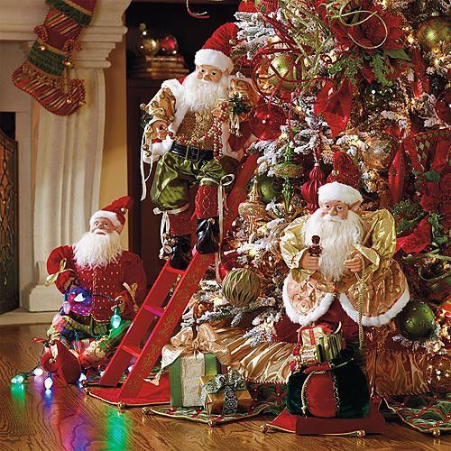 Set of 3 animated decorating elves christmas decorations for Animation decoration noel