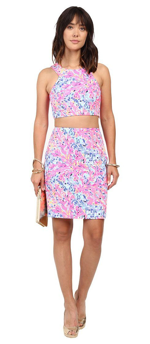 Lilly Pulitzer Mallika Set (Multi Coco Coral Crab) Women's Active Sets - Lilly Pulitzer, Mallika Set, 24884-999PE8, Apparel Sets Active, Active, Sets, Apparel, Clothes Clothing, Gift, - Fashion Ideas To Inspire