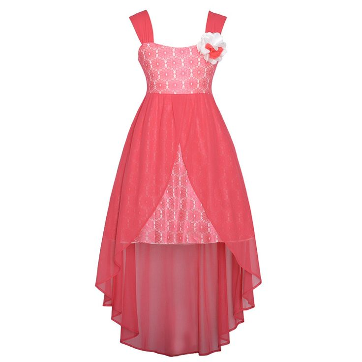 easter dresses for girls 7-16 | ... Lace Overlay Flower Hi Low Easter Dress Girls 7-16 - SophiasStyle.com