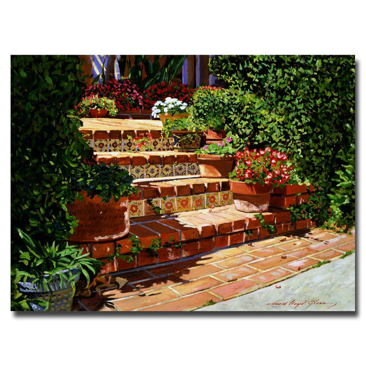 This ready to hang, gallery-wrapped art piece features a Spanish garden. David Lloyd Glover has a 25 year international reputation exhibiting in major galleries in the US, Canada, Mexico and Japan. Hi