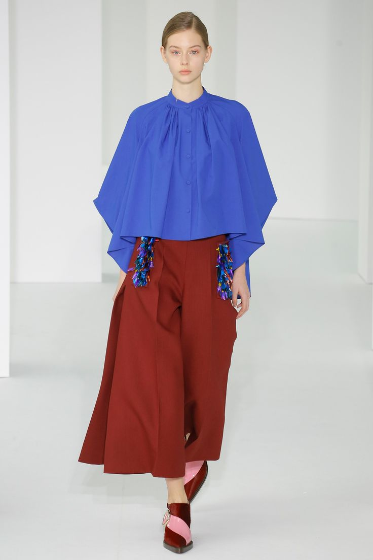 Full pleated from the neck cornflower blue gorgeous drape See the complete Delpozo Fall 2017 Ready-to-Wear collection.
