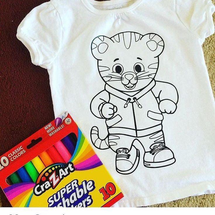 How fun! A coloring shirt using heat transfer vinyl as an
