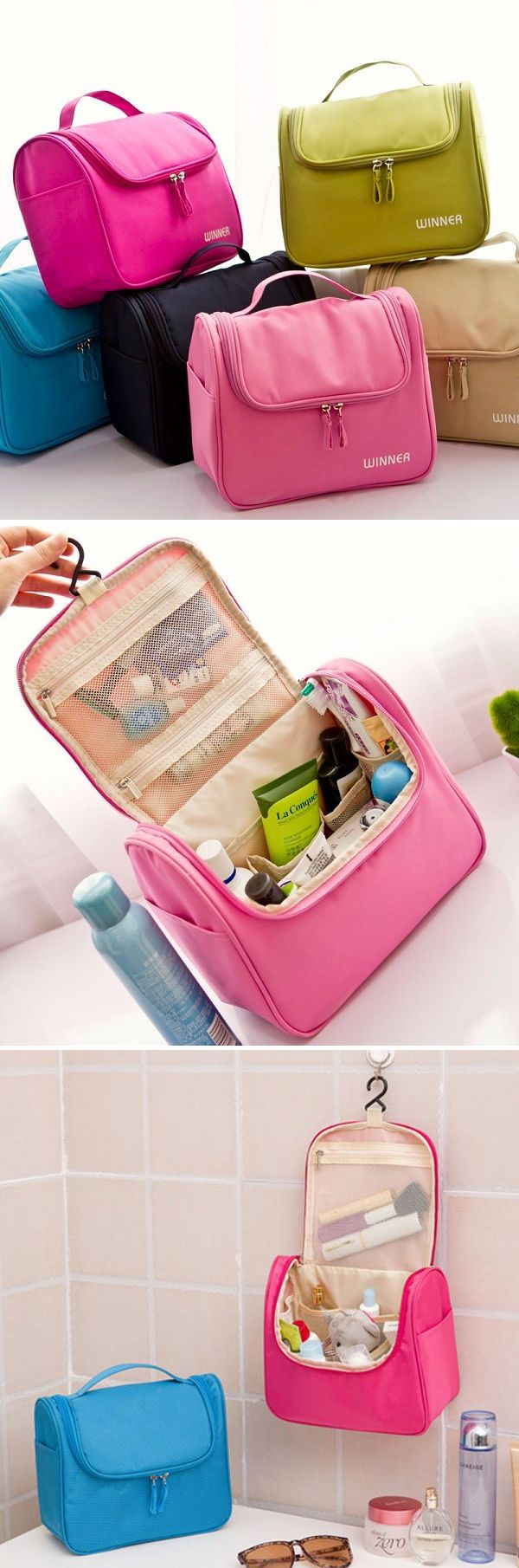 US$7.99 Multifunctional Portable Waterproof Travel Storage Bag Cosmetic Wash Mackup Holder Organizer