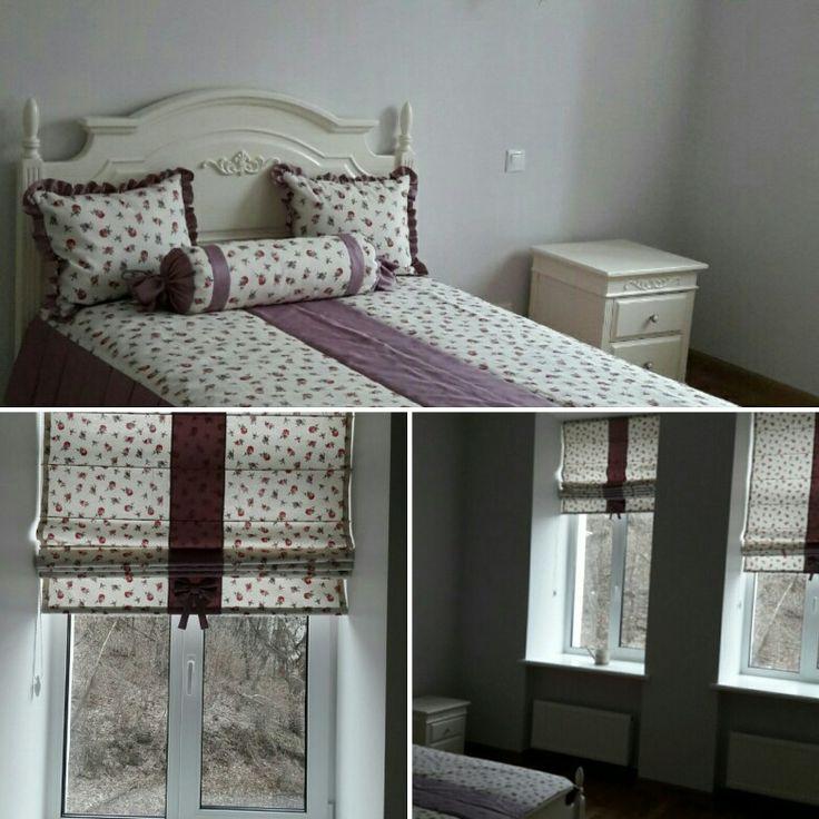 Оформление Детской комнаты. #hartdesignstudio #подушка #декор #мебель #шторы #римскиешторы #дизайн #пошив #киев #пошивштор #детская #спальня #покрывало http://hart.com.ua/bedroom