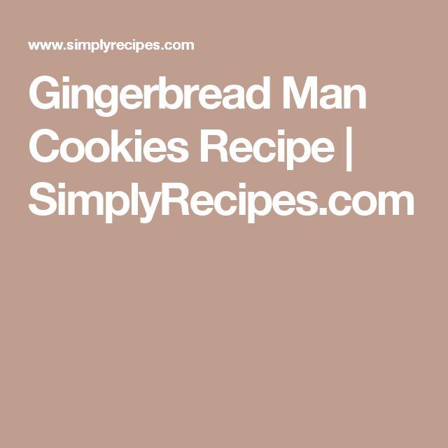 Gingerbread Man Cookies Recipe | SimplyRecipes.com