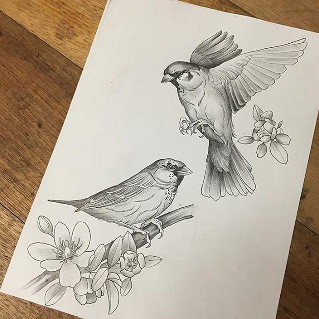 sketch bird tattoo - Google Search