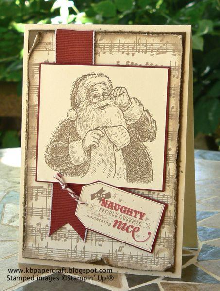 Stampin' Up! stamp set Santa's List, download on My Digital Studio for tag