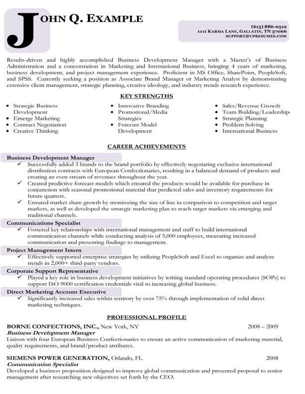 Hr Resume Writer Business Analyst Manager Sample