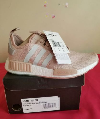 ebbc3b2b8280 ADIDAS NMD R1 W CQ2012 Women s Size 7 PINK Ash Pearl 100% Deadstock ...