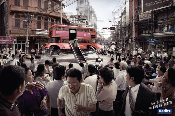 Campaign: Berlitz UFO: London Bus / Advertiser: Berlitz / Agency: FP7/BAH / Country: Bahrain / Creative Director: Fadi Yaish Art / Director: Gautam Wadher / Award: Photography Emerald