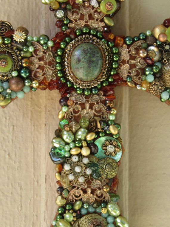 Jewelled Wall Decoration : Best beaded cross ideas on crafts