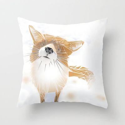 F.O.X Throw Pillow by ARCHIGRAF - $20.00