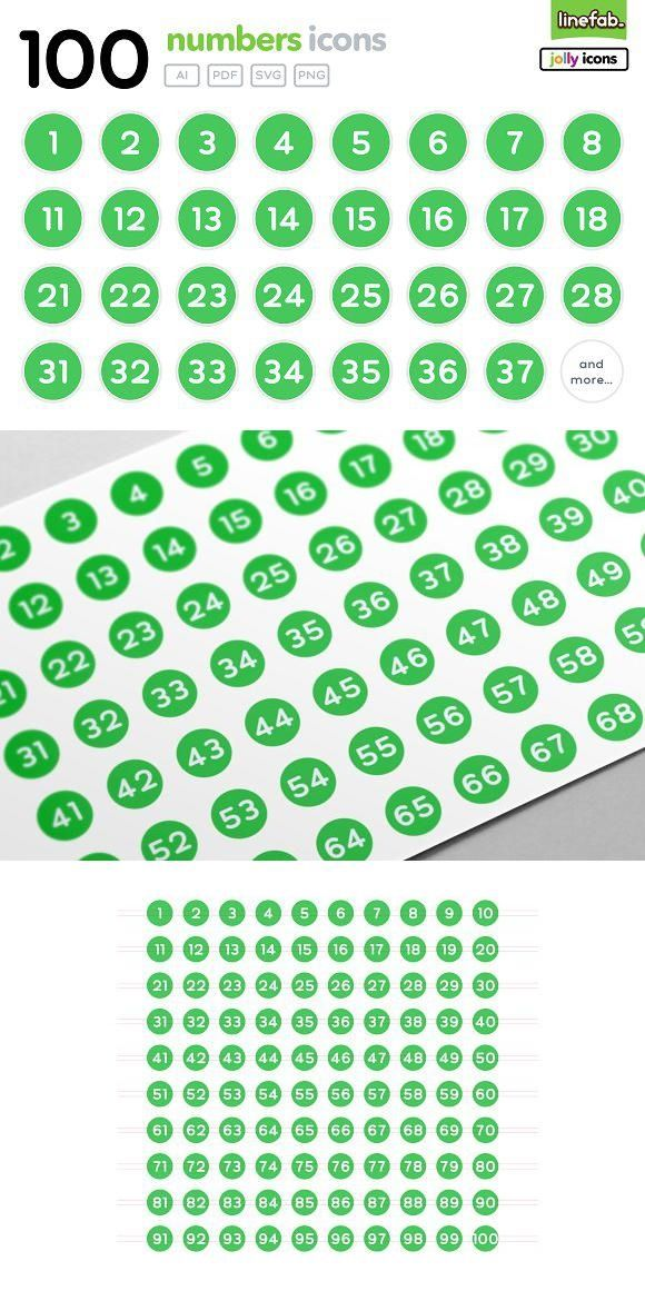 100 Numbers Icons Jolly Green Icon Design Icon Png Icons