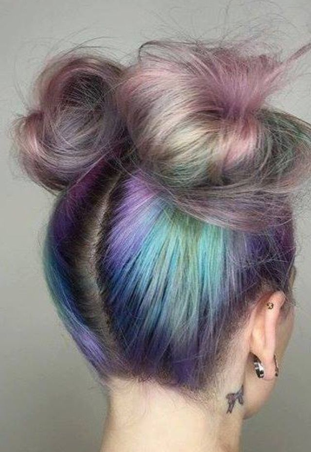 Mermaid bun  Follow us for more hairstyles. Her Box is a monthly subscription box catered to women during your periods. Discover products that will relieve stress and discomfort. Treat Yourself. Check out www.theHerBox.com for a 3 month subscription box.