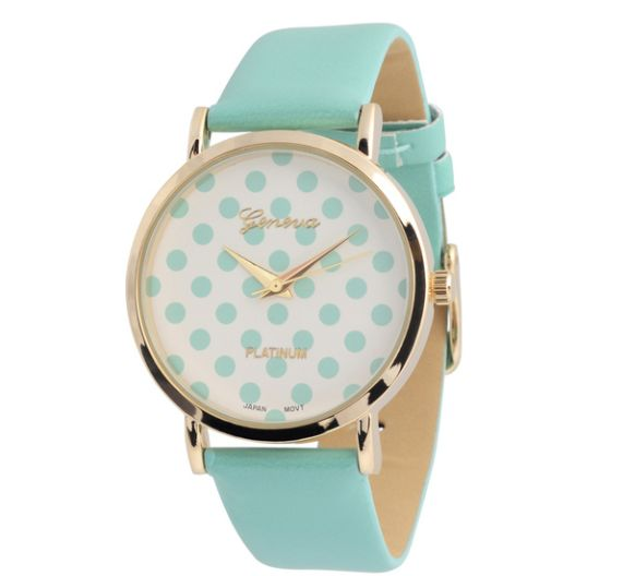 Polka-dot mint watch