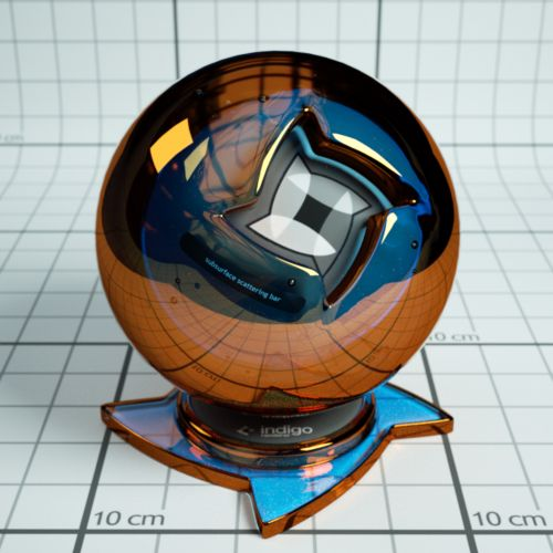 Dichroic coated glass |  Material database | Indigo Renderer