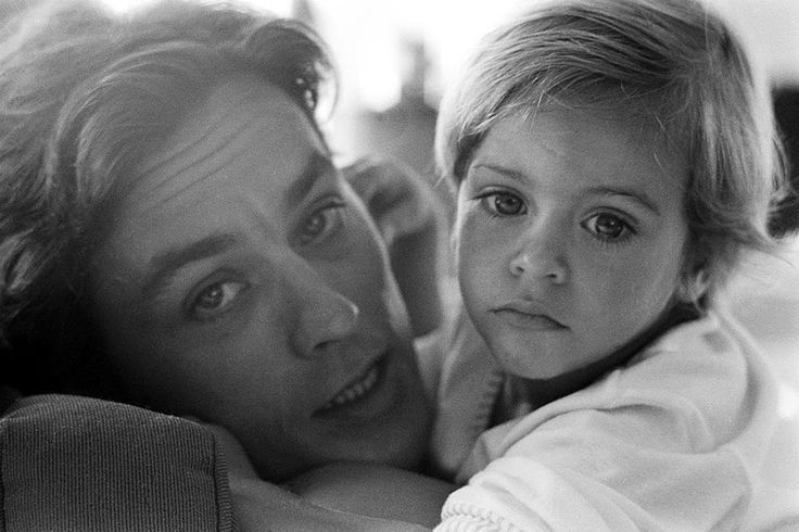 Alain Delon et son fils Anthony © Photo sous Copyright