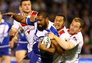 The two top teams in the NRL go head-to-head on Sunday with leaders Melbourne Storm taking on their nearest challengers in Canterbury Bulldogs.