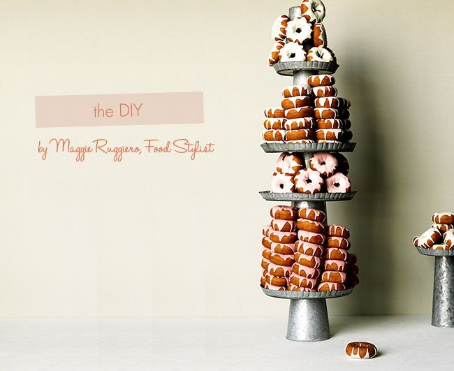 An easy cake DIY with donuts!