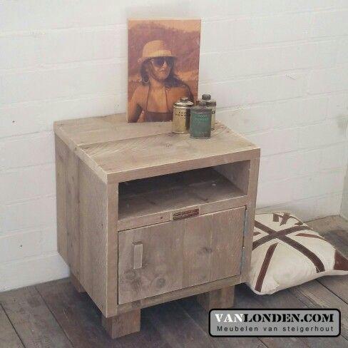 Nachtkastje van steigerhout .... www.vanlonden.com