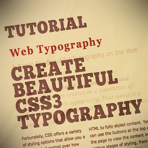 20 Wonderful CSS3 Text Effect Tutorials and Experiments