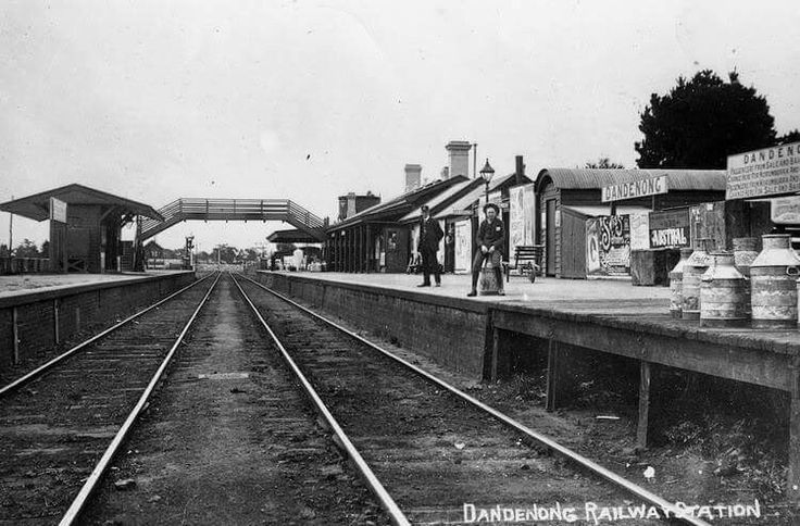 Dandenong Railway Station in Victoria pre 1922.