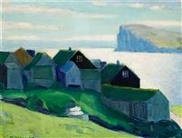 Færosk bygd by Samuel Joensen Mikines