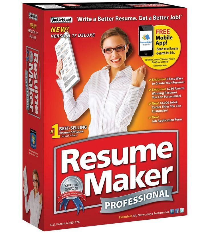 Resumemaker Professional Deluxe 17 stuffiwant Pinterest - resume maker professional