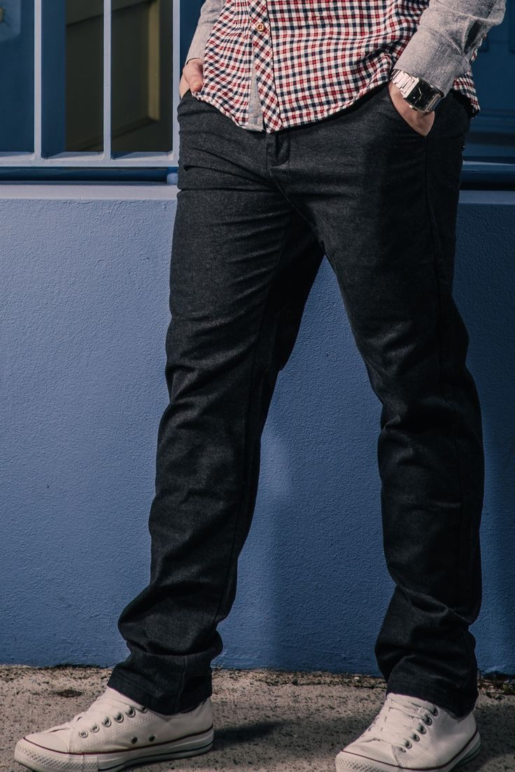 The new go to basic for all followers of fashion, our charcoal black coloured, slim-fitting chinos are the most versatile option for the modern man. Matching perfectly with tees, shirts, blazers or singlets, our chinos define the leg while leaving adequate drapes for numerous footwear options. Just choose your style, and combine.  http://sieteclothingco.com.au/shop/mens-chinos-and-pants/