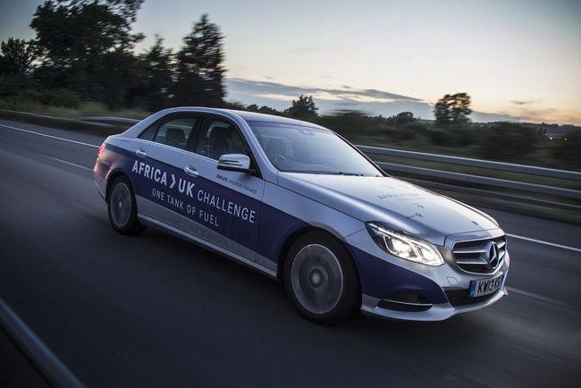 Mercedes-Benz E 300 BlueTEC Hybrid на одном баке преодолел почти 2000 км, соединив пробегом Северную Африку и Туманный Альбион.