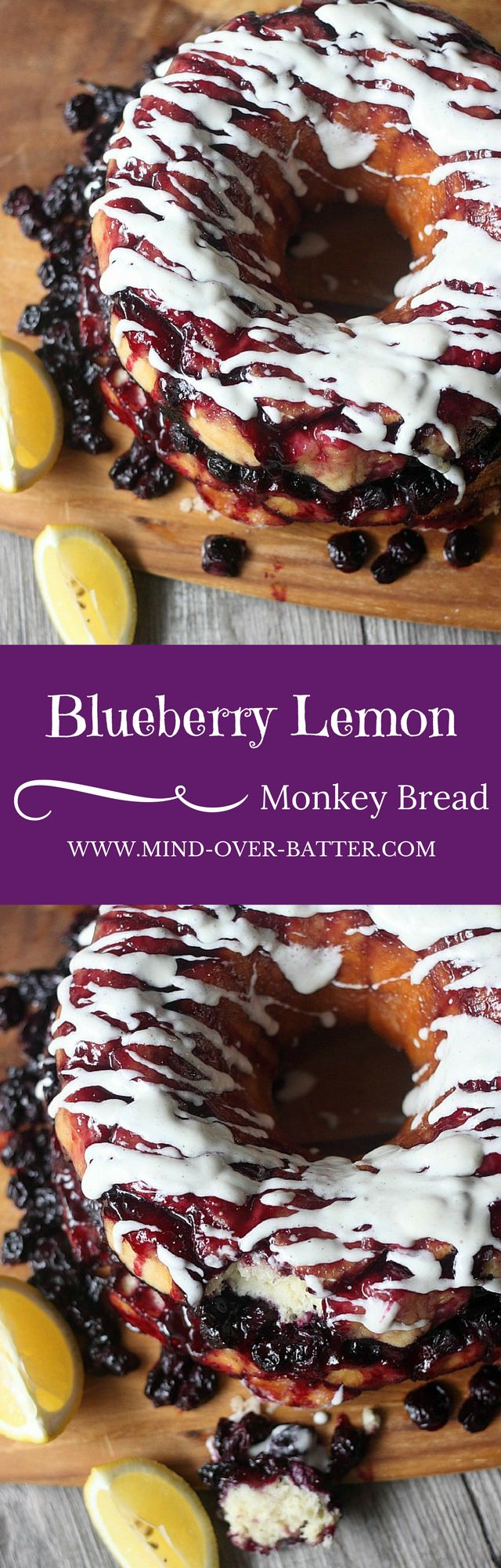 Blueberry Lemon Monkey Bread -- www.mind-over-batter.com