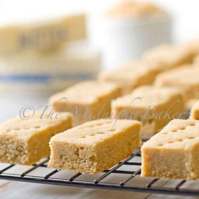Easy peasy shortbread cookies made with brown sugar
