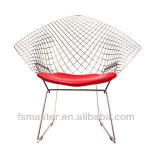 diamant stoel van Harry Bertoia pvc replica draad stoel, vrije tijd Bertoia stoel