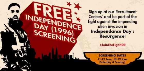 11-19 Jun 2016: TGV Cinemas FREE Screening Day