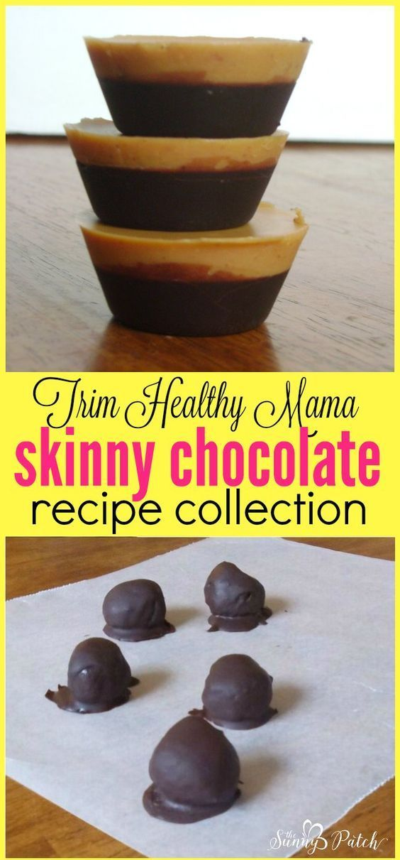 Trim Healthy Mama Skinny Chocolate is a fabulous basic recipe that can be used to make many healthy chocolate desserts - check out these recipes that use skinny chocolate!