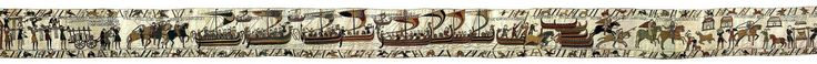Tapiz de Bayeux. Fines de 1100 d.C. Musée de la Tapisserie de Bayeux. Bayeux, Normandía. Francia. El tapiz de Bayeux relata los hechos acontecidos entre 1064 y 1066 de la conquista de Inglaterra por los normandos y del transcurso de la decisiva batalla de Hastings, que cambiaron el curso de la historia de las naciones francesa y británica.