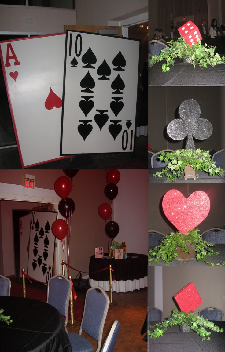 Diy Casino Party Decorations  How To Make A Budget Diy Poker Theme  Centerpiece €� Youtube