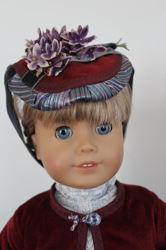 Victorian Hat for American Girl doll by ForAllTimeDesigns via Etsy