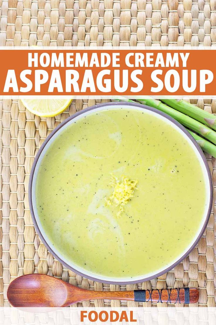 It's a garden in a bowl. Fresh asparagus is blended with shallots, a touch of sherry vinegar, and cream. Bright lemon ma…