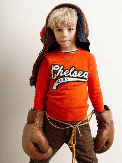 Bellerose boys sweater Vixx 62 Sofa oranje, fijn sweatshirt van Bellerose kids