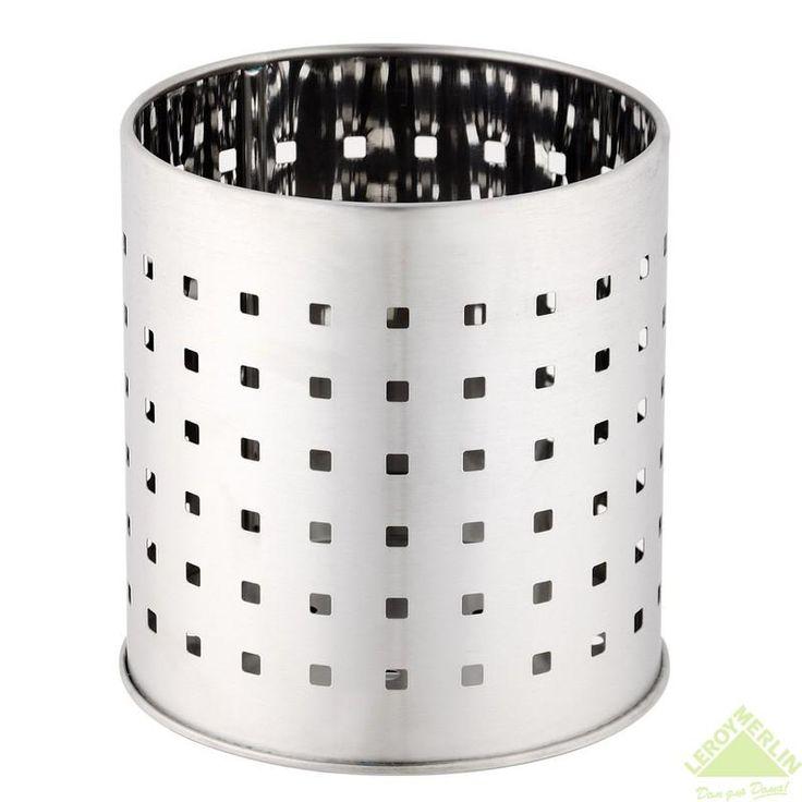 Стакан для сушки приборов, нержавеющая сталь, Настольные аксессуары - Каталог Леруа Мерлен