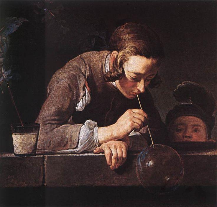 Жан-Батист-Симеон Шарден. Мыльные пузыри [ок. 1739]