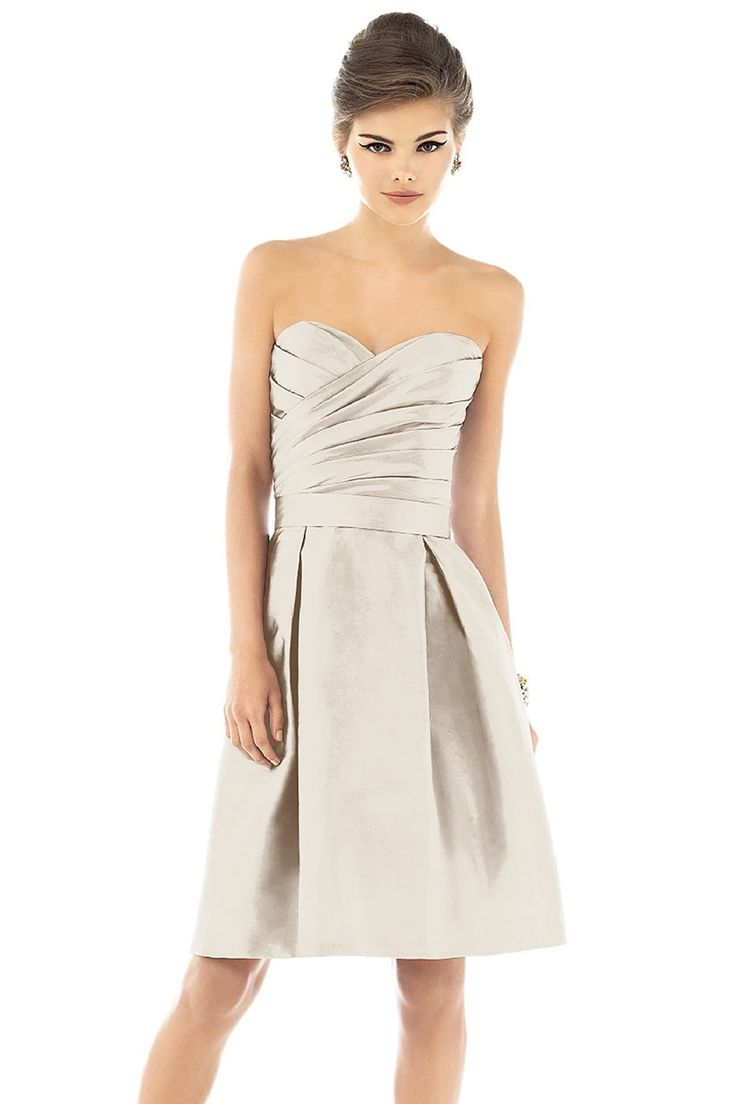 Shop Alfred Sung Bridesmaid Dress - D536 in Dupioni at Weddington Way. Find the perfect made-to-order bridesmaid dresses for your bridal party in your favorite color, style and fabric at Weddington Way.