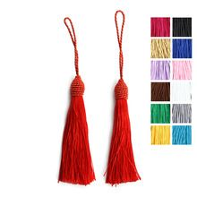 10 pcs / Lot Silk Rayon Cotton Tassels Earrings Bracelet Necklace Accessories Chinese Knot Satin Tassels DIY Jewelry Making F4000 (China (Mainland))