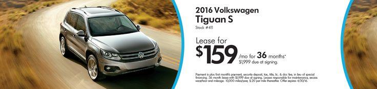 April Tiguan Lease  Elgin Volkswagen VW auto specials
