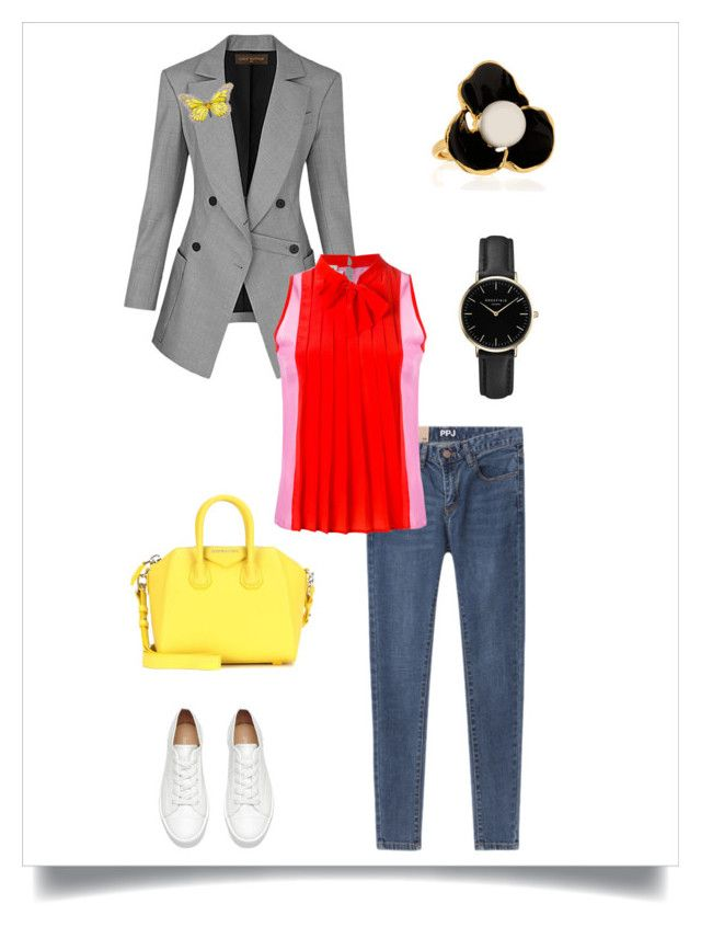 """Smart Casual"" by marinaova ❤ liked on Polyvore featuring FAUSTO PUGLISI, Givenchy, ROSEFIELD, Kenneth Jay Lane and smartcasual"