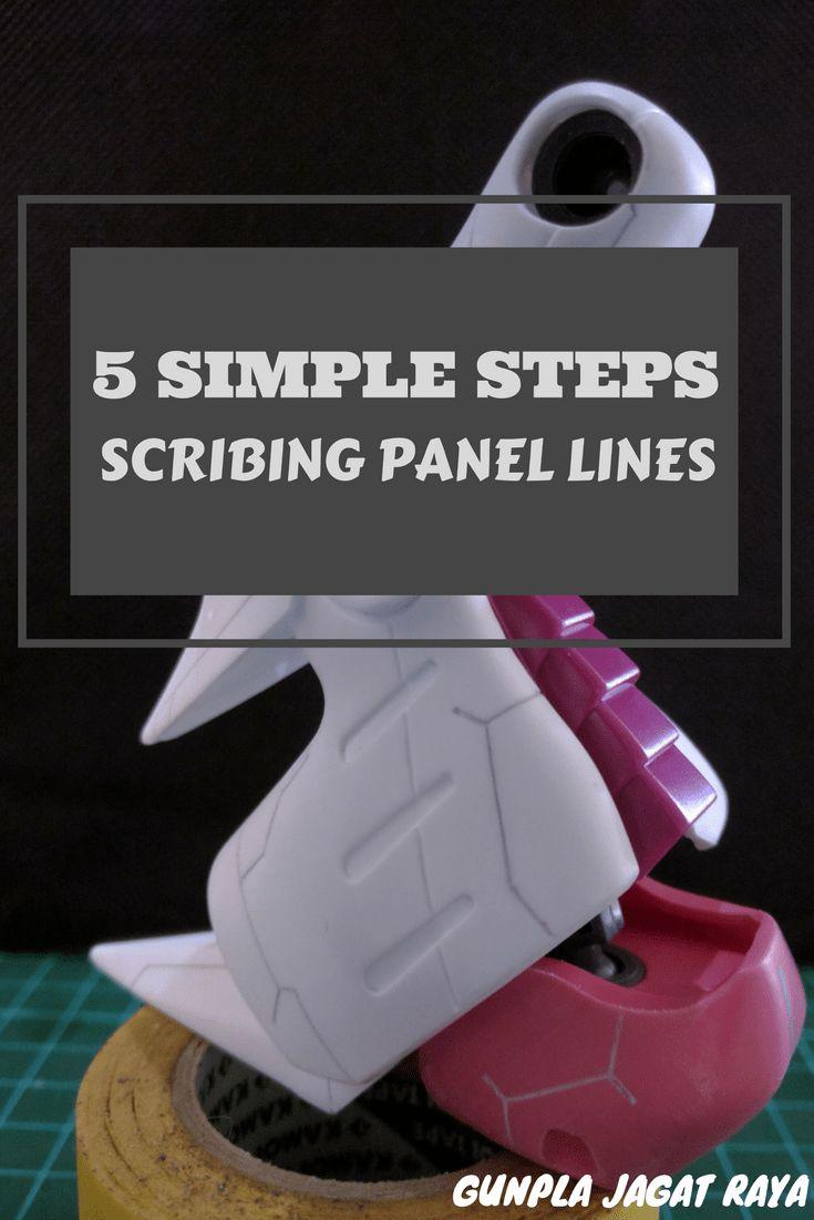 Gunpla tutorial. Gunpla techniques on scribing panel lines part 1.